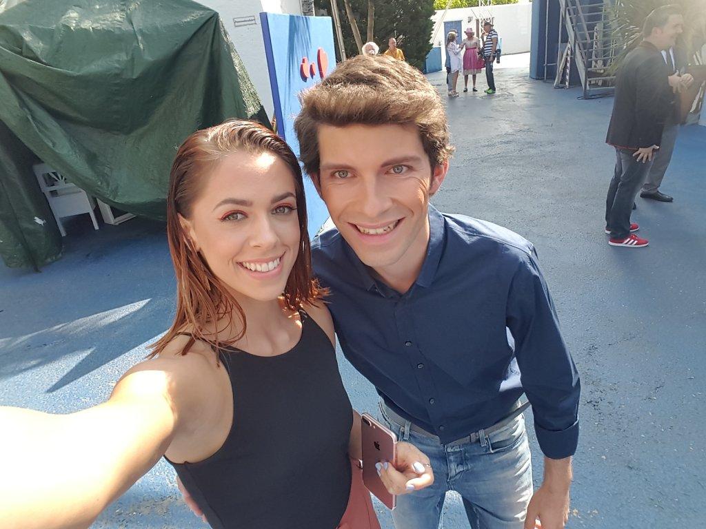 Michi Glück mit Vanessa Mai