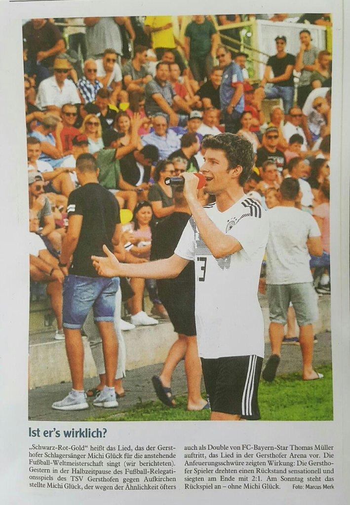 Auftritt im Stadion Artikel in der Ausgburger Allgemeine